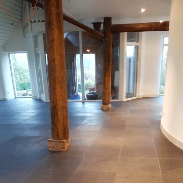 Leisteen vloer geïmpregneerd in Overijssel